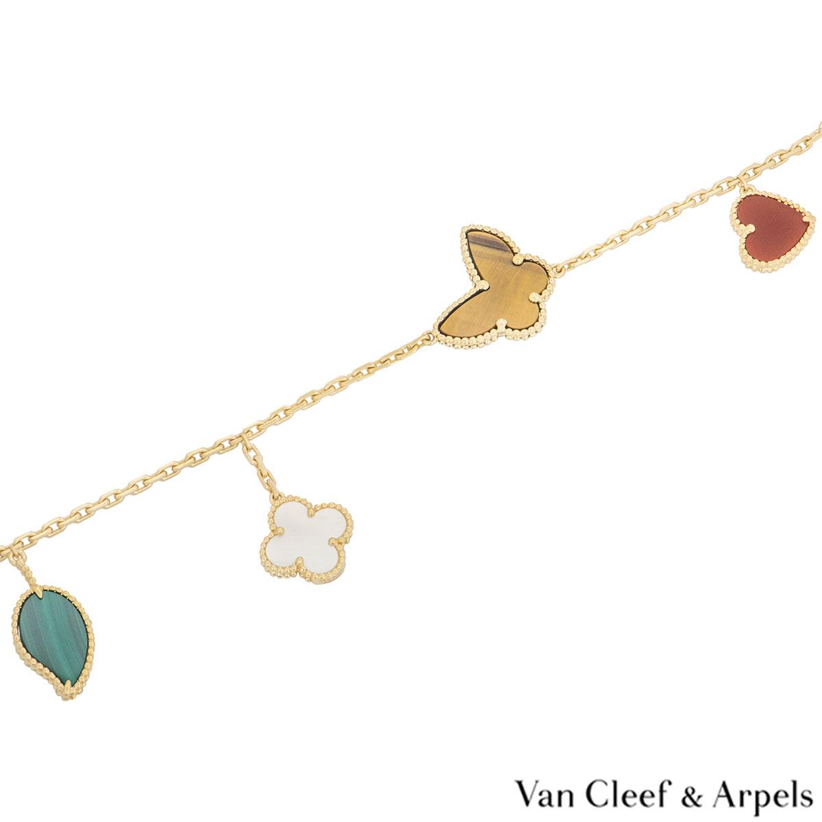 Van Cleef & Arpels Yellow Gold Lucky Alhambra Bracelet ARD79600